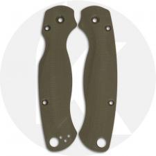Flytanium Custom G10 Scales for Spyderco Paramilitary 2 Knife - Lotus OD Green