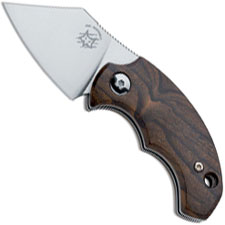 Fox Knives Dragotac BB Ziricote FX-519 ZW Knife Ziricote Wood Non Locking Folder Made In Italy