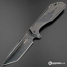 MODIFIED Boker Plus Lateralus 01BO767 Blackwash JB Stout Knife - Tanto Regrind