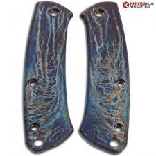 MODIFIED Flytanium Titanium Scales for Benchmade Proper Knife - MAYHEM FINISH