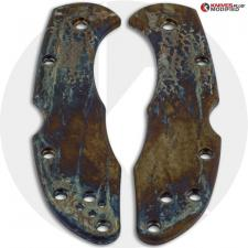 MODIFIED Flytanium Titanium Scales for Spyderco Delica 4 Knife - MAYHEM FINISH