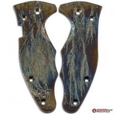 MODIFIED Flytanium Titanium Scales for Spyderco YoJimbo 2 Knife - MAYHEM FINISH