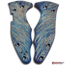MODIFIED Flytanium Titanium Scales for Spyderco YoJimbo 2 Knife - MAYHEM FINISH