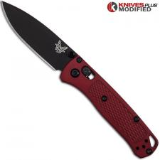 MODIFIED Benchmade Mini Bugout Red Dragon 533BK-1 Knife - Black Blade - Rit Dyed Handle