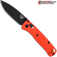 MODIFIED Benchmade Mini Bugout Orange 533BK-1 Knife - Black Blade