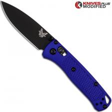 MODIFIED Benchmade Mini Bugout Blue 533BK-1 Knife - Black Blade - Rit Dyed Handle