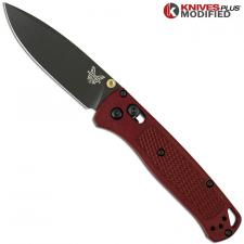 MODIFIED Benchmade Bugout 535GRY-1 Knife - Blood Red Rit Dye Handle