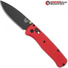 Benchmade Bugout 535GRY1 Knife + Flytanium Red G10 Scales - Installed FREE