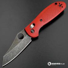 MODIFIED Benchmade Mini Griptilian 555HG - The Red Dragon - Acid Stonewash - Regrind
