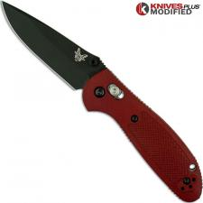 MODIFIED Benchmade Mini Griptilian 556BKSN - Black Blade - Blood Rit Dye Handle
