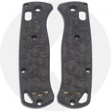KP Custom Carbon Fiber Damascus Pattern Scales for Benchmade Bugout Knife - Contoured