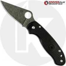 MODIFIED Spyderco Para3 Lightweight - Acid Stonewash - Black FRN Handle