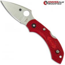 MODIFIED Spyderco Dragonfly 2 - The Red Dragon - Satin Blade - Rit Dyed