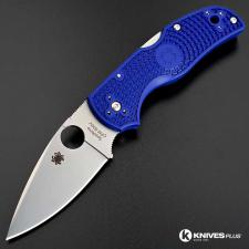 MODIFIED Spyderco Native 5 - BLUE - Satin - Rit Dyed Handle