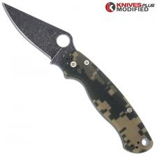 MODIFIED Spyderco Para Military 2 - Acid Stonewash - Digital Camo G10