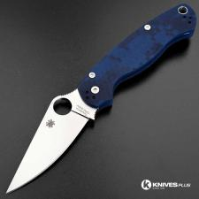 MODIFIED Spyderco Para Military 2 - Urban Digital Camo - Satin Blade - Dyed Handle