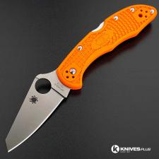 MODIFIED Spyderco Delica 4 - Regrind - Orange Handle