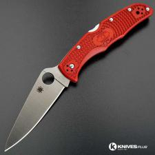 MODIFIED Spyderco Endura 4 - The Red Dragon - Rit Dyed Handle