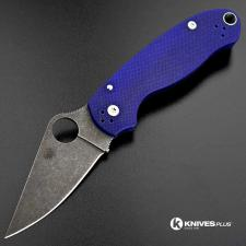 MODIFIED Spyderco Para 3 ACID WASHED S110V Blue G10