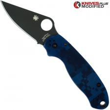 MODIFIED Spyderco Para 3 Knife - Urban Digital Camo - Rit Dyed Handle