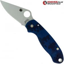 MODIFIED Spyderco Para 3 Knife - Urban Digital Camo - Satin Blade - Rit Dyed Handle