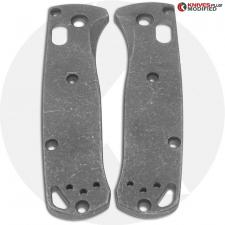 KP Custom Titanium Scales for Benchmade Mini Bugout Knife - Blasted + Stonewashed