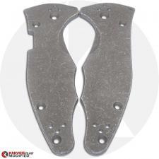 KP Custom Titanium Scales for Spyderco Yojimbo 2 Knife - Blasted + Stonewashed