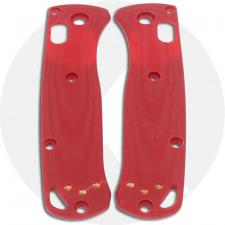 KP Custom G10 Scales for Benchmade Mini Bugout Knife - Red - Contoured