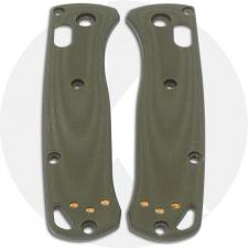 KP Custom G10 Scales for Benchmade Mini Bugout Knife - OD Green - Contoured