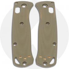 KP Custom G10 Scales for Benchmade Mini Bugout Knife - Desert Tan - Contoured
