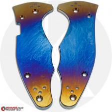 KP Custom Titanium Scales for Spyderco Yojimbo 2 Knife - Super Nova Finish