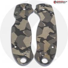 KP Custom Titanium Scales for Spyderco Para 3 Knife - Blasted Finish - Fractal Engraved