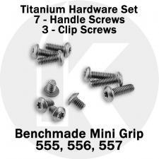 Titanium Replacement Screw Set for Benchmade Mini Griptilian Series Knife - Button Head - T6 - Set of 10