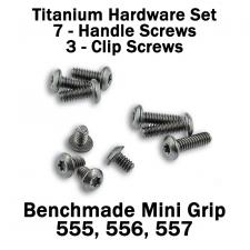 Titanium Replacement Screw Set for Benchmade Mini Griptilian Series Knife - Button Head - T6 - Set of 10