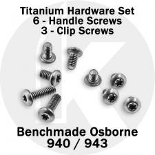 Titanium Replacement Screw Set for Benchmade 940 / 943 Osborne Knife - Button Head - T6 - Set of 9