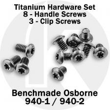 Titanium Replacement Screw Set for Benchmade 940-1 / 940-2 Osborne Knife - Button Head - T6 - Set of 11