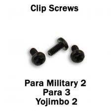 Replacement Clip Screws - Spyderco Para Military 2, Para 3, Yojimbo 2 - Pan Head - Phillips - Black Oxide