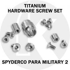 Titanium Replacement Screw Set for Spyderco Para Military 2 Knife