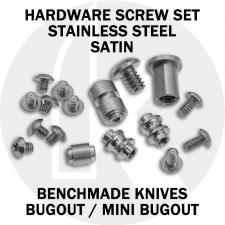 Replacement Screw Set for Benchmade Bugout and Mini Bugout - Stainless Steel - Satin