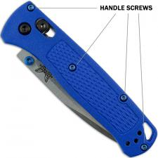 Titanium Replacement Screw Set for Benchmade Bugout 535 Knife - Button Head - T6 - Blue - Set of 10