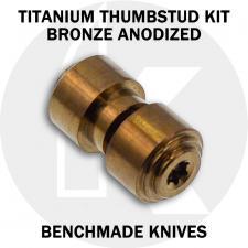 KP Custom Titanium Thumbstud for Benchmade Knife - Bronze Anodized