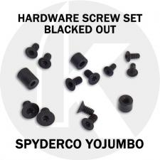 Replacement Screw Set for Spyderco YoJUMBO - Stainless Steel - Blacked Out
