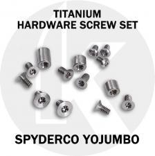 Titanium Replacement Screw Set for Spyderco YoJUMBO Knife