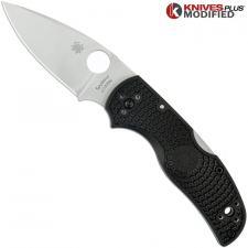 MODIFIED Spyderco Native 5 Salt LC200N Knife - BLACK Rit Dye Handle