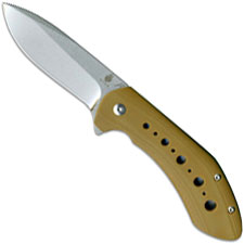 Kizer Kala Vanguard V4479A2 Scot Matsuoka EDC Flipper Folder Drop Point with Brown G10