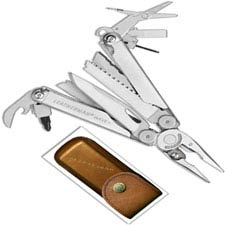 Leatherman Wave Plus Tool 832556 Heritage Edition 18 Function Multi Tool with Vintage Leather Sheath