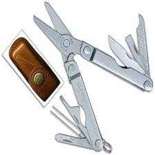 Leatherman Micra Tool 832557 Heritage Edition 10 Function Multi Tool with Vintage Leather Sheath