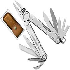 Leatherman Rebar Tool 832560 Heritage Edition 17 Function Multi Tool with Vintage Leather Sheath