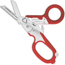 Leatherman Raptor Rescue Tool 832774 - 6 Function Medical Shears - Multi Tool - Red GFN Grips
