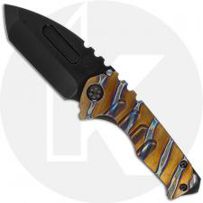 Medford Praetorian Genesis T - PVD S35VN Tanto - Bronze Tiger Stripes Titanium Handle - Frame Lock Folder - USA Made